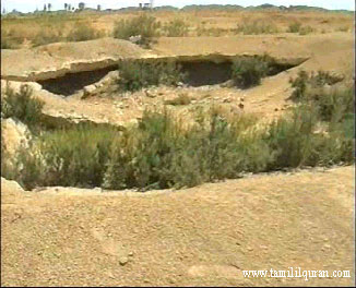 The place where earth swallowed up Qaroon and his relatives